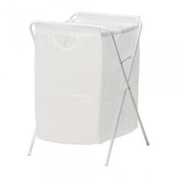 Laundry Bag White w/d Stand